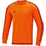 Jako Keepershirt Striker 2.0 fluo oranje-wijnrood _