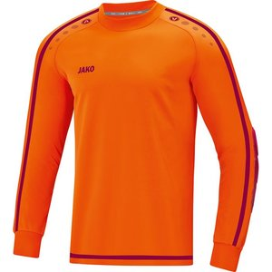Jako Keepershirt Striker 2.0 fluo oranje-wijnrood
